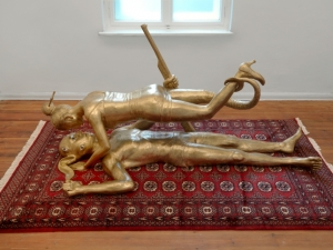 One of Entang Wiharso's installations. (Courtesy of the artist and ARNDT, Berlin.)