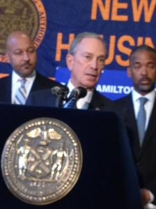 Mayor Bloomberg at today's press conference.