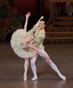 Lauren King and Robert Fairchild in George Balanchine's 'The Nutcracker.' (Paul Kolnik)