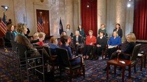 Diane Sawyer with the women of the U.S. Senate. (Photo: ABC/Martin Simon)