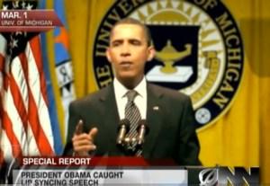 Barack Obama lip-syncing? (The Onion)