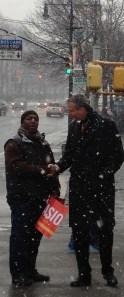 Bill de Blasio in the Bronx.
