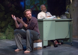 Bill Heck and Frankie Faison in 'Water by the Spoonful.' (Courtesy Richard Termine)