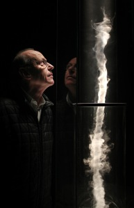 McCall with a working model of his sculpture 'Column,' commissioned for the 2012 London Olympics. (Getty Images)