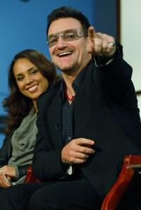 Alicia Keys and U2's lead singer, Bono. (Chip Somodevilla/Getty Images)