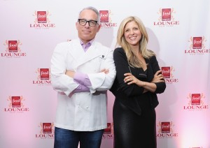 Chef Geoffrey Zakarian and Joanna Saltz of Hearst at the Lambs Club.
