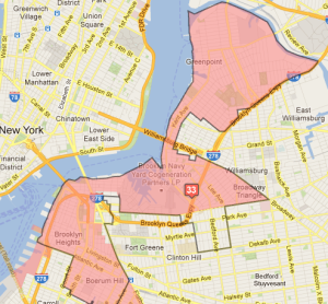 The 33rd Council District. (Photo: Districting Commission/Google Maps)
