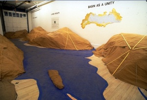 An installation view of Fend's 1991 show at American Fine Arts. (Courtesy Barbara Morse)