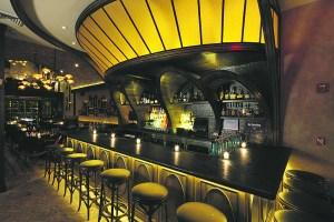 The bar at Arlington Club.