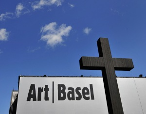 A work by Valentin Carron at Art Basel in 2009. (Getty Images)