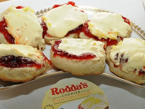 Clotted cream on pastries. (Downing Street/Flickr)