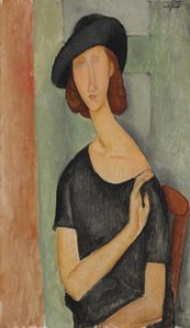 "Amedeo Modigliani, ""Jeanne Hebuterne (au Chapeau),"" 1919."