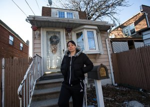 A Queens homeowner facing foreclosure. (NYTimes)