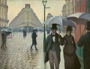 Gustave Caillebotte, 'Paris Street; Rainy Day,' 1877. (Art Institute of Chicago/Metropolitan Museum of Art)