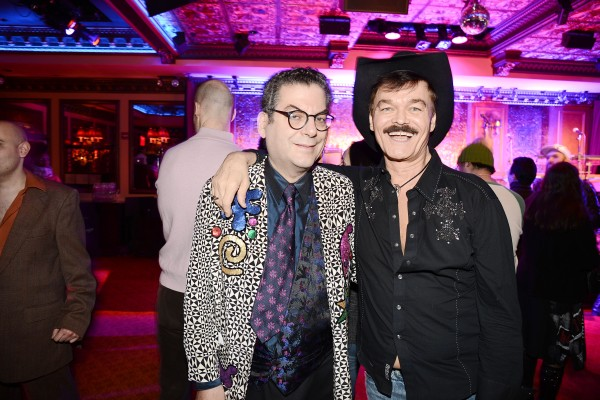 Michael Musto and Randy Jones of the Village People. (Patrick McMullan)