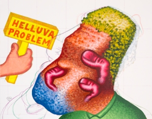 Peter Saul, 'Helluva Problem,' 2012. (Courtesy the artist and Mary Boone Gallery)