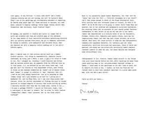 Part 2 of the letter to Bacon. Click to view in full size.
