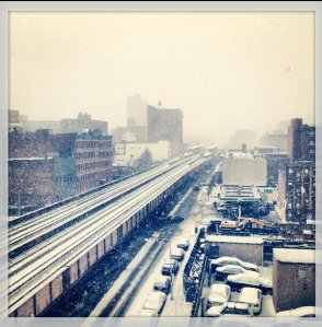 Photo of Metro-North's tracks through Harlem, via @BuzzFeedNews