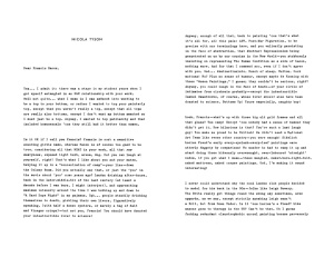 Part 1 of letter to Bacon. Click to view in full size.