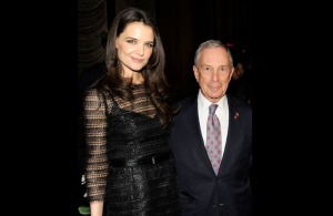 Katie Holmes and Mayor Michael Bloomberg.