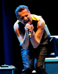 Dave Gahan of Depeche Mode.