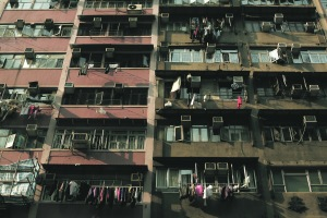 Overflowing apartments in Hong Kong (Mark Kolbe/Getty Images)