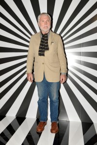 Glenn O'Brien at a Jimmy Choo launch (Courtesy Patrick McMullan)
