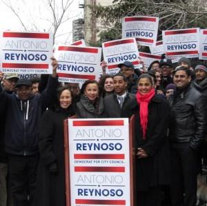 Antonio Reynoso's campaign kick-off. (Photo: Reynoso campaign)