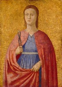 'Saint Apollonia' (1454-1469) by Piero Della Francesca. (Courtesy Frick Collection)