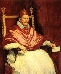 Velázquez's 'Portrait of Pope Innocent X,' ca. 1650. (Wikimedia)