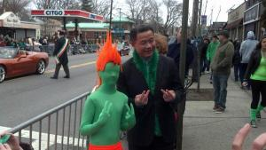 The best moment from John Liu's mayoral marathon yesterday.