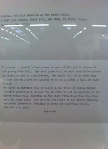 Peter Liversidge's proposal letter
