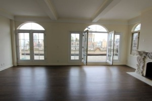 """The floors, views and fireplace say """"Park Avenue,"""" but the windows scream """"McMansion."""""""