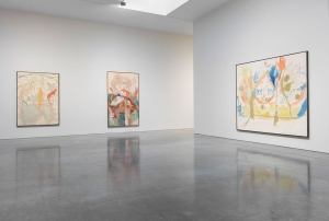 Installation view of 'Painted on 21st Street: Helen Frankenthaler from 1950 to 1959' at Gagosian. (All artwork © Estate of Helen Frankenthaler/Artists Rights Society (ARS), New York/Photo by Rob McKeever)