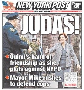 One gets the feeling the Post doesn't like Speaker Quinn's I.G. bill. (photo: newseum.org)