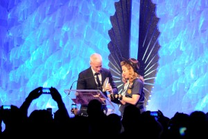 Madonna presents the Vito Russo Award to Anderson Cooper. (Photo by Marie Havens)