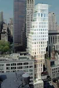 Rem Koolhaas's 23 West 22nd Street: still not happening.