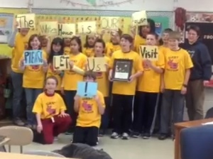 The sixth graders from St. Paul's Lutheran School in their Facebook plea to the White House. (Photo: Facebook)