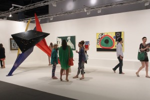 The Helly Nahmad booth at Art Basel Miami Beach 2012. (Courtesy Getty Images)