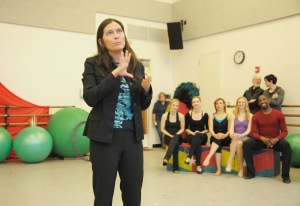 Diane Paulus at a 'Pippin' rehearsal. (Photo by Joan Marcus)