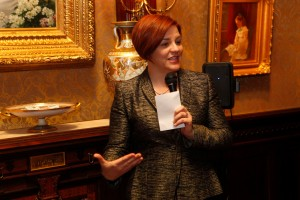 Christine Quinn at the Loebs' home.