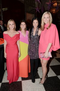 Tory Burch, Lisa Perry, Vera Wang and Jamie Tisch at The Breast Cancer Research Foundation's 2013 Hot Pink Party. ©Patrick McMullan