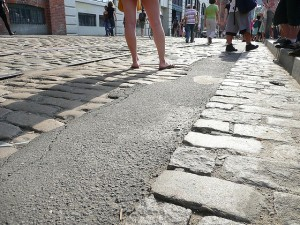 The cobblestones in question. (animalvegetable, flickr)
