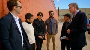 Bill de Blasio, Steve Buscemi, and Vampire Weekend. (Screengrab: YouTube)