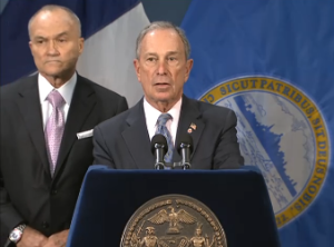 Mayor Bloomberg and Commissioner Kelly. (Screengrab: NYC.gov)