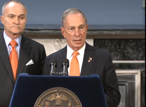 Mayor Bloomberg and Commissioner Kelly during the briefing. (Photo: NYC.gov)