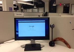 The desk of Steve Rubel, Chief Content Strategist at Edelman.