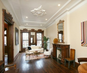 Ms. Gilmartin's new home is as classical as Atlantic Yards is modern.
