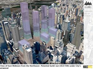 The Municipal Art Society is worried that the Midtown East upzoning would allow development that would block views of the Chrysler Building, among other landmarks.