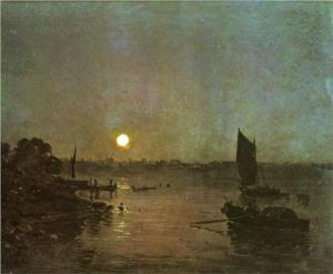 'Moonlight, A Study at Millbank,' 1797, by Turner. (Tate)